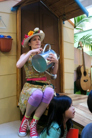 watering can as musical instrument!