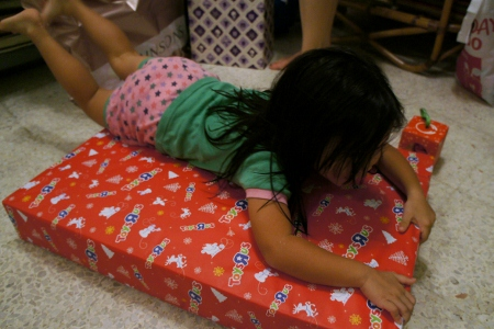 a present as big as she is