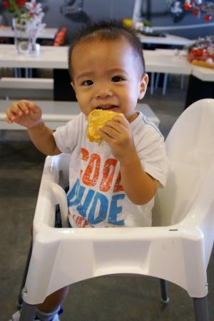 happy pancake boy