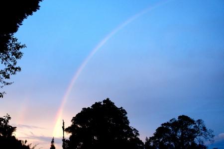 a double rainbow!