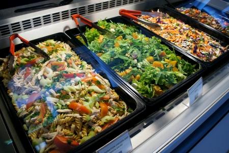 yummy-looking salads