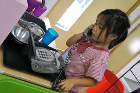 'calling' her grandma