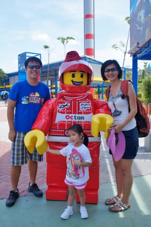 with a LEGO man