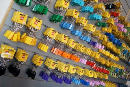 LEGO brick keychains