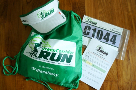 Green Corridor Run race pack