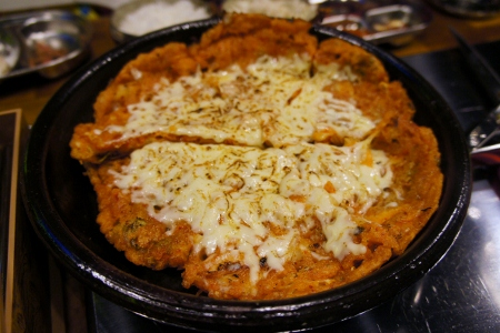 kimchi cheese pancake