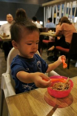 eating soba