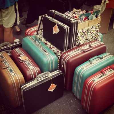 vintage-style suitcases