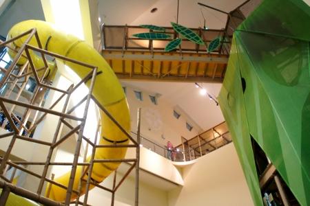 bridge leading to the slide