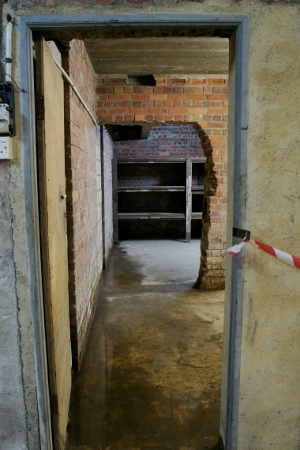 looking towards one of the storage rooms