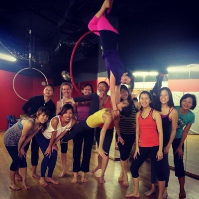 my class with our lovely instructors