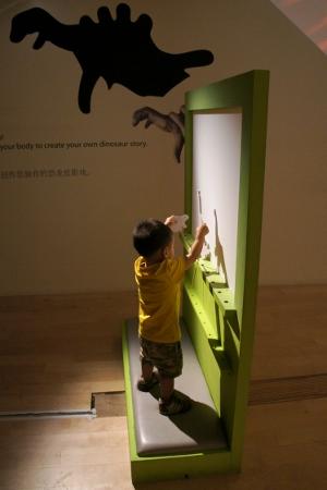 making dinosaur shadows