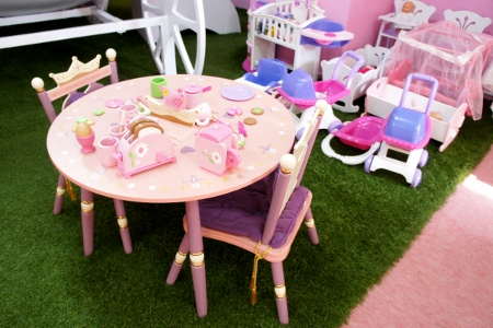 tea table and baby doll corner