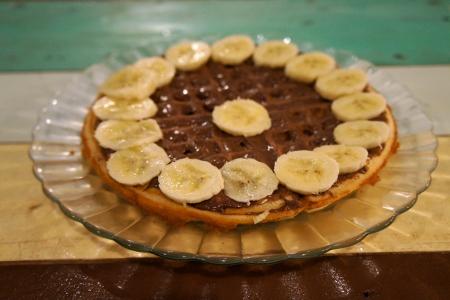 Nutella banana waffle