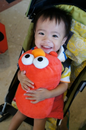 ridiculously excited about an Elmo cushion