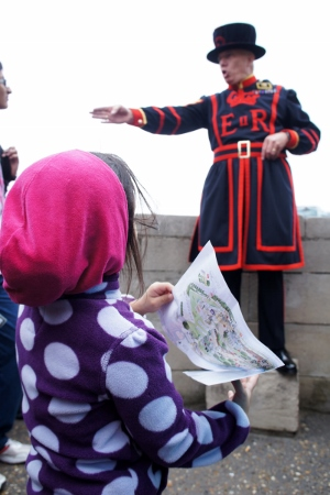 listening to our Beefeater guide