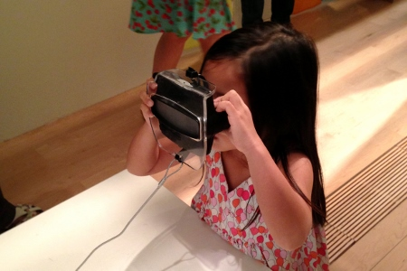 looking through a Viewmaster