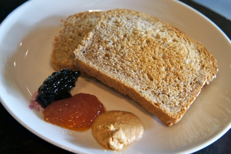 toast with cashew butter