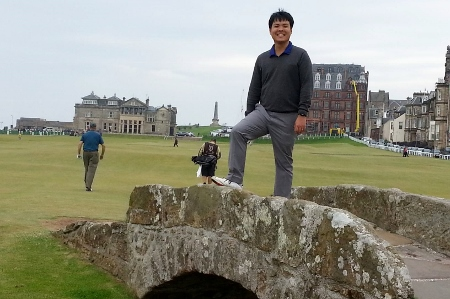 Adrian at St. Andrews Old Course