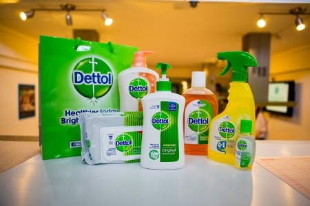 we got to bring home all these Dettol goodies!