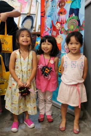 three sweet little girls