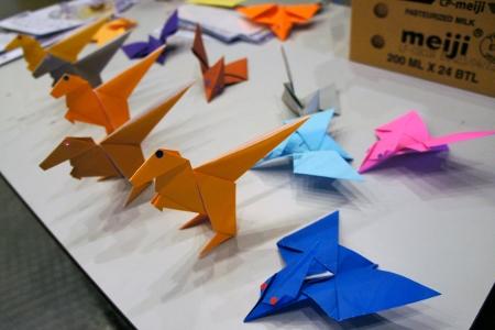dinosaur origami