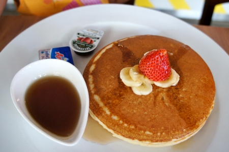 pancakes from kids' menu