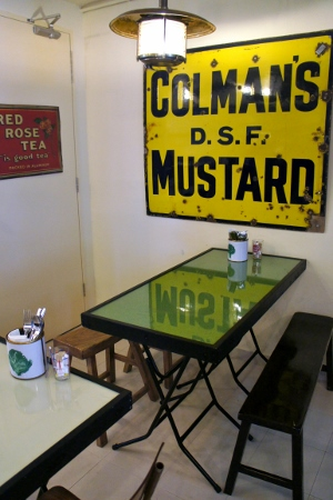 love that mustard sign!
