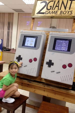 giant Game Boy units for Tetris