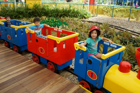 riding the Duplo Express