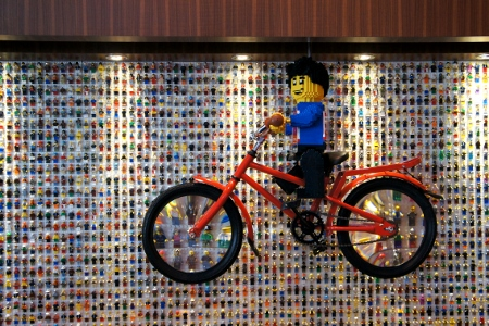 wall of Lego figures