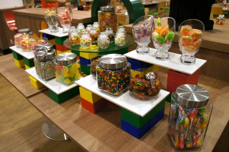the kids went gaga over this decadent display of sweets