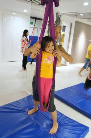 standing on the silks