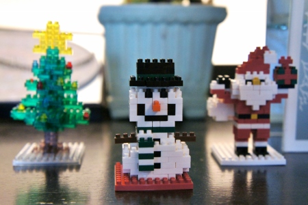Christmas Nanoblocks I got for Nav last year