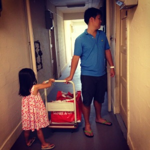 delivering to families in one-room flats