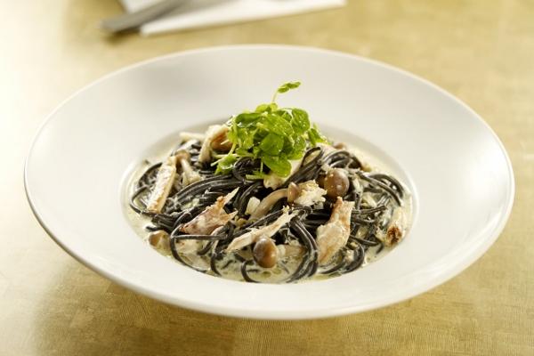 Crabmeat Squid Ink Pasta