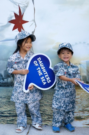 in the Navy combat uniforms