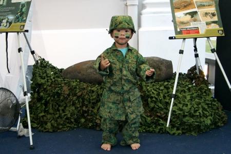 Adam in the Army uniform