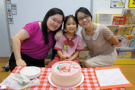 with her teachers