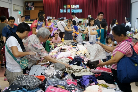 jumble sale in the hall