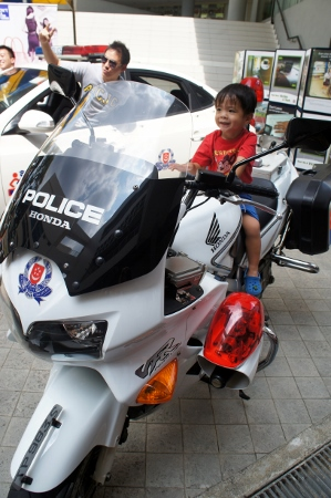 on the police bike