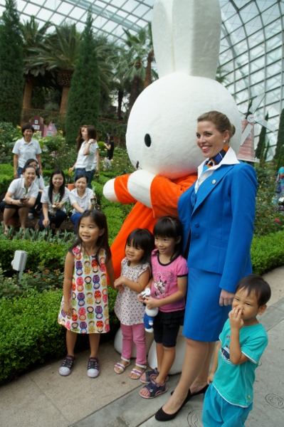 finally get to take a photo with the adorable Miffy