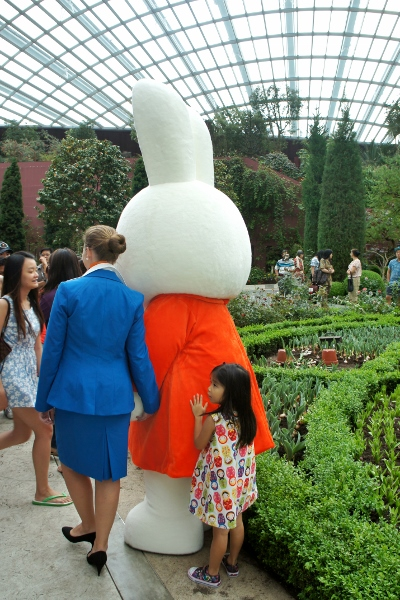 clinging on to Miffy