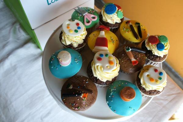 artsy cupcakes