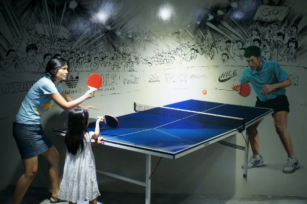 a crucial table tennis match
