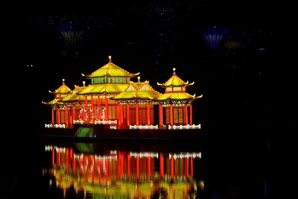 beautiful floating lantern