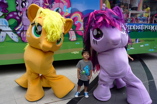 Adam with the mascots
