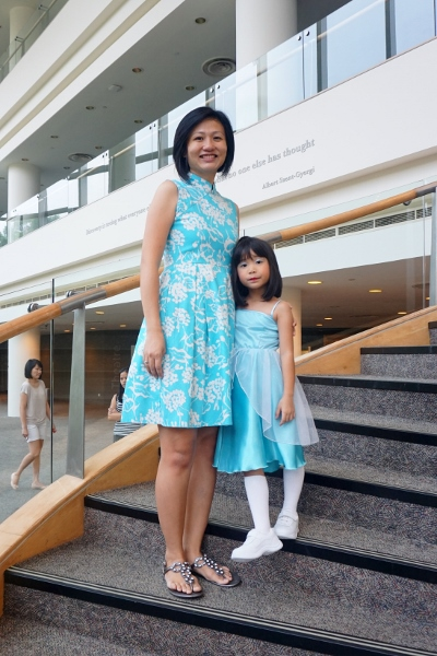 being matchy-matchy in my Lark & Peony cheongsam