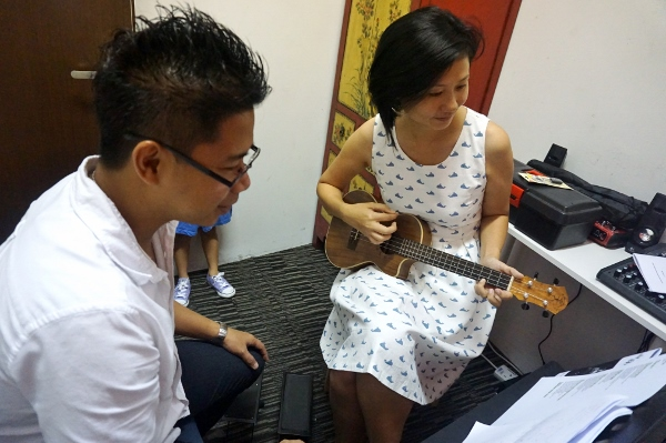 with my ukulele teacher, Neil