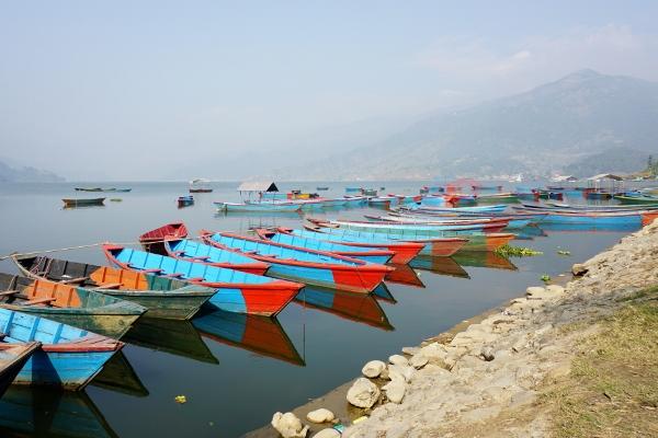 by Phewa Tal lake
